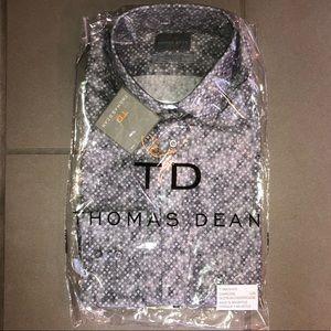 Geometric Long Sleeve Dress Shirt